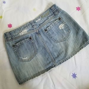 Forever 21 Skirts - Forever 21 Distressed denim mini skirt (S)